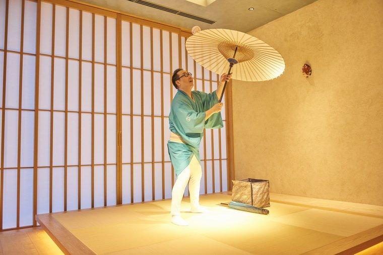 星のや東京 ラウンジ 傘回し