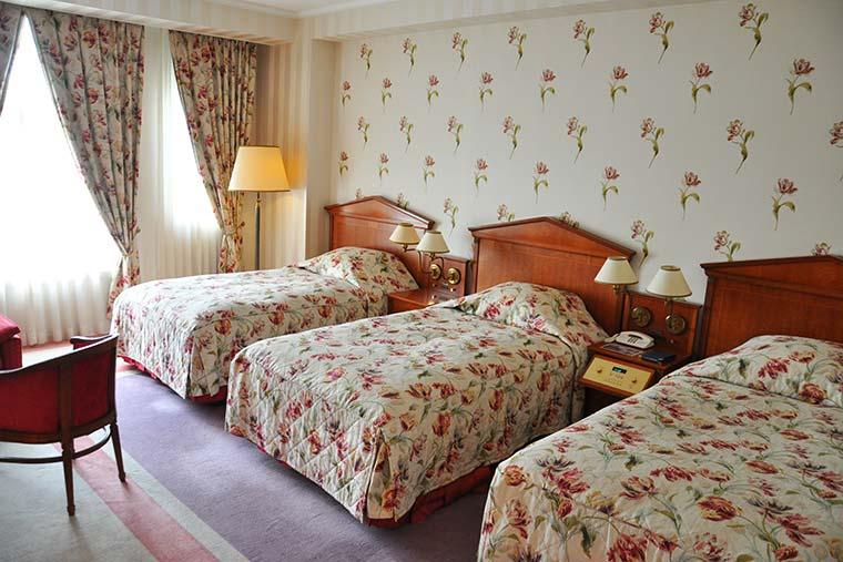 ホテルアムステルダムのトリプルルーム