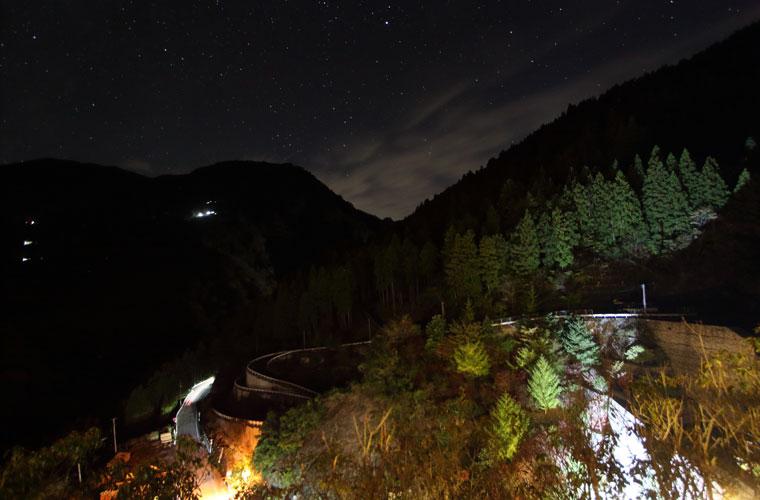 ホテルかずら橋 湯上がり休憩所「半兵衛の家」からの眺望