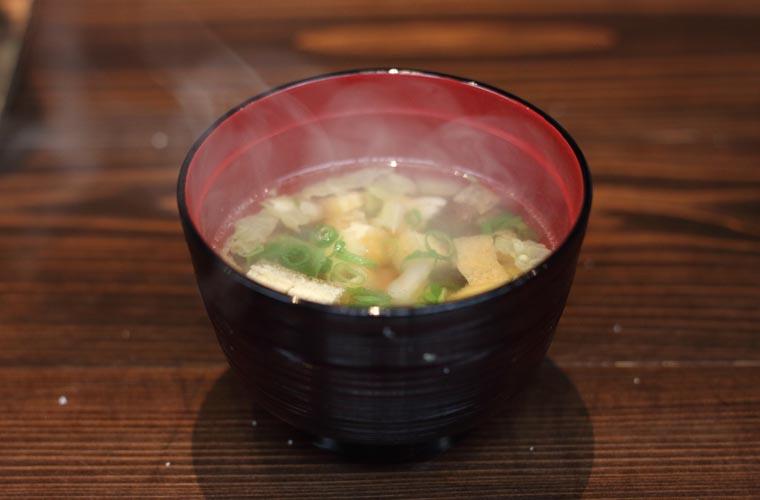 ホテルかずら橋 料理(そば米汁)