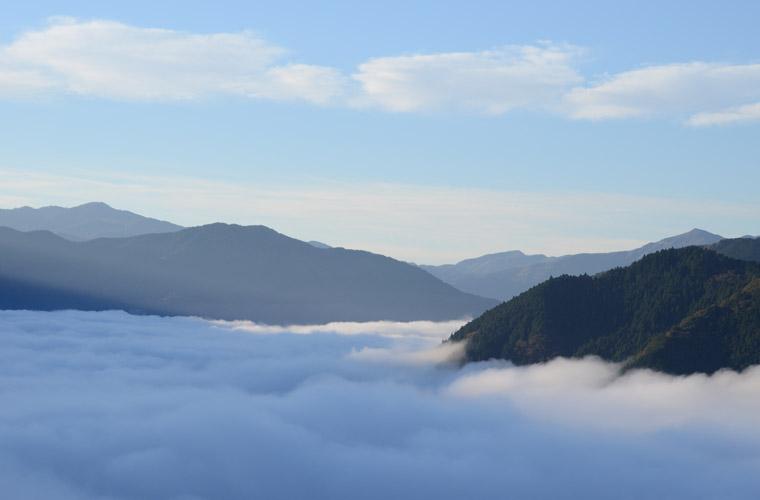 吾橋・雲海展望台からの雲海
