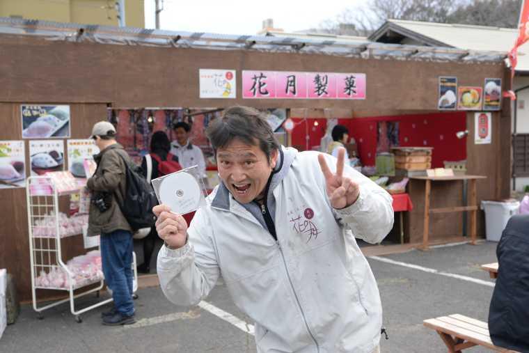 おみやげ販売店「花月製菓」の社長さん