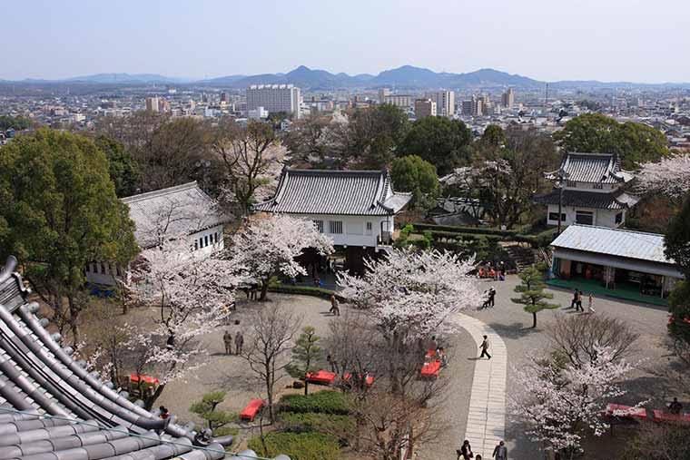 犬山城 最上階「望楼」からの眺め