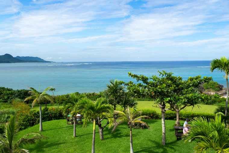 石垣島 のばれ岬観光農園 屋上からの景色