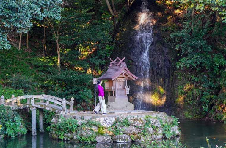 出雲大社 亀の尾の滝