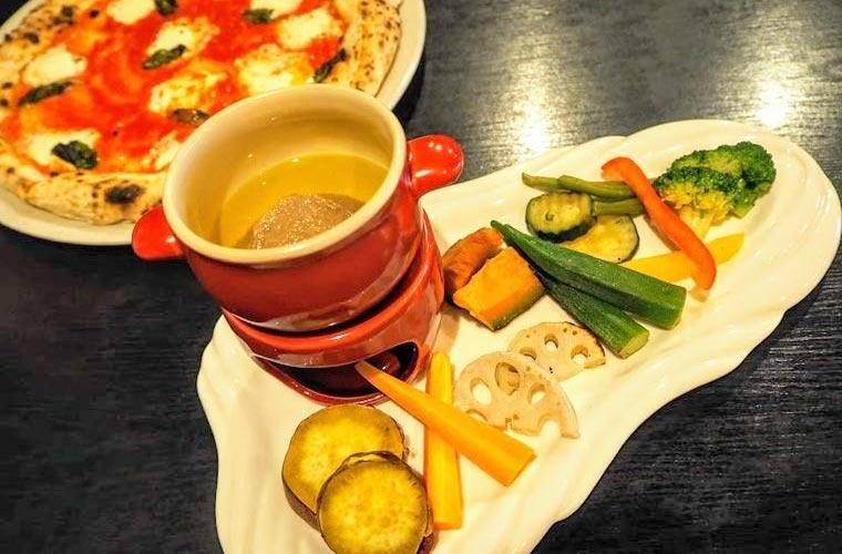 ランチで人気の焼き野菜食べ放題のセット