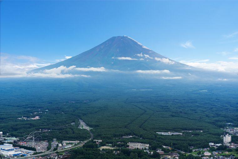 富士山パノラマロープウェイの展望台から見える絶景