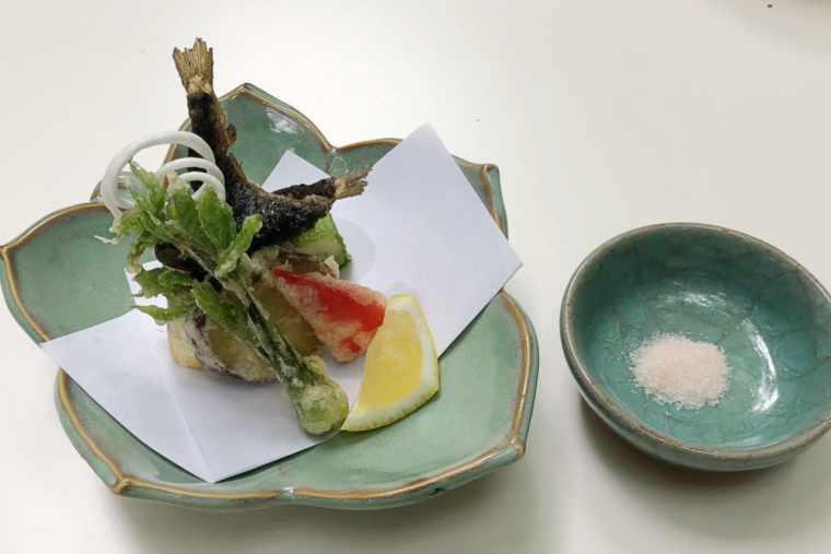 京貴船ひろや 長芋の新茶揚げ