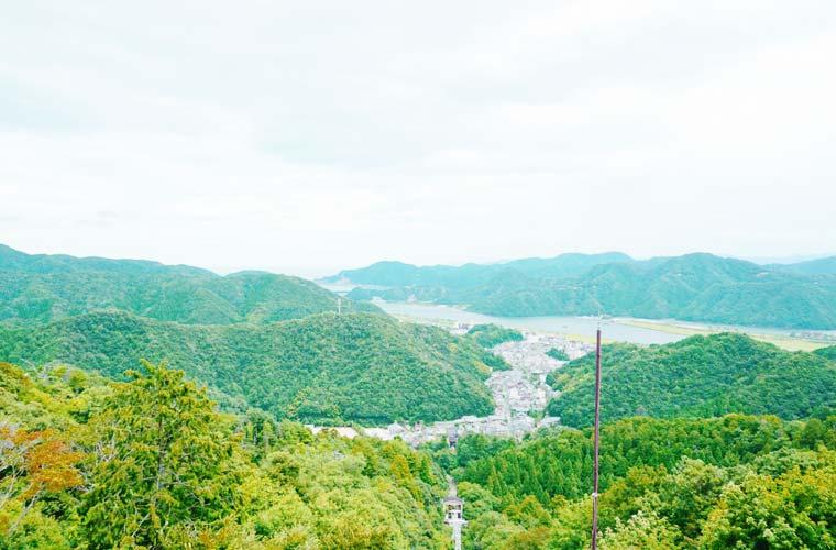 城崎温泉ロープウェイ頂上からの眺望