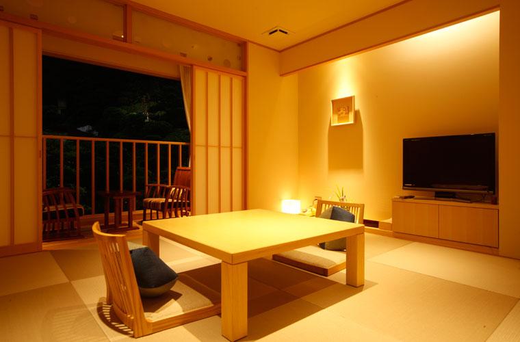 湯楽の特別フロア「璃楽」の客室