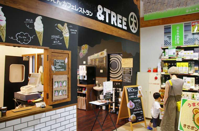 「せんねんの木」と「のうえんカフェ」のコラボカフェ「&TREE」
