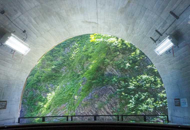 清津峡渓谷トンネル 第二見晴所のトイレからの景色