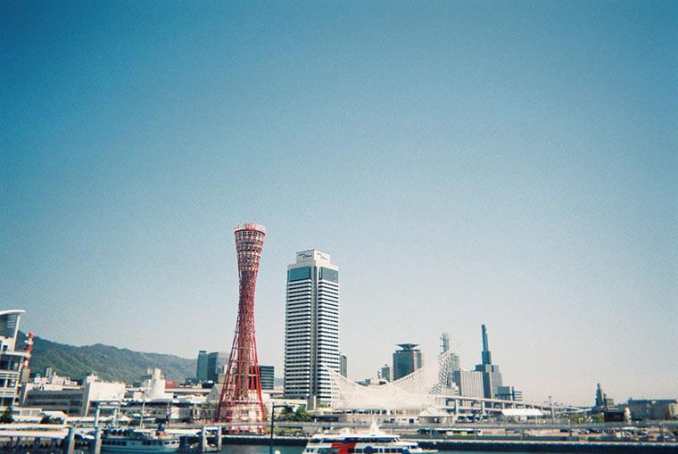 「写ルンです」で神戸港を撮影