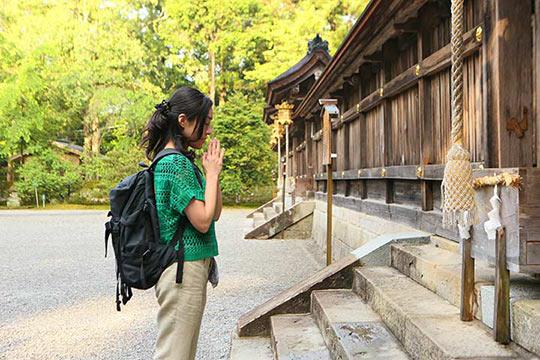 熊野本宮大社にお詣り。古道歩きの疲れが癒やされていく