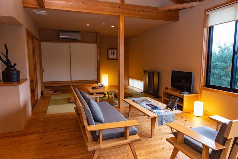 熊野古道 熊野倶楽部 部屋 露天風呂付き隠れのコテージ 満月庵