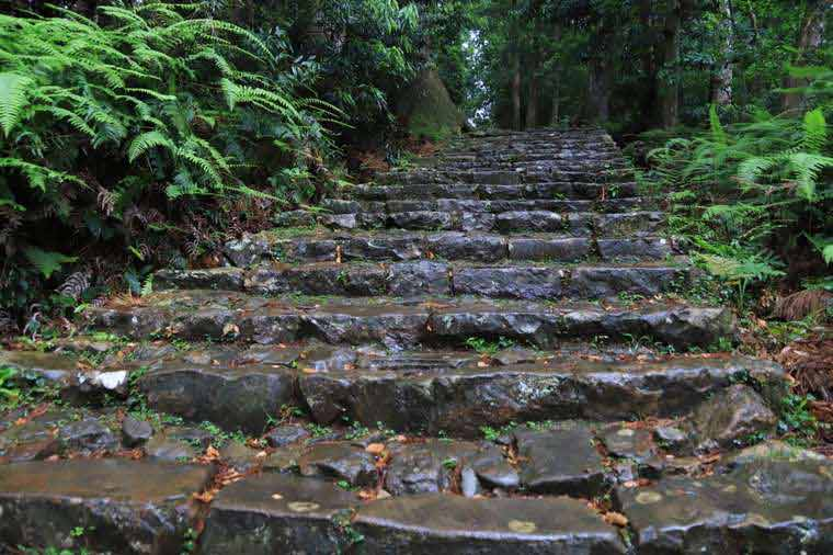 大門坂から熊野那智大社までの石段
