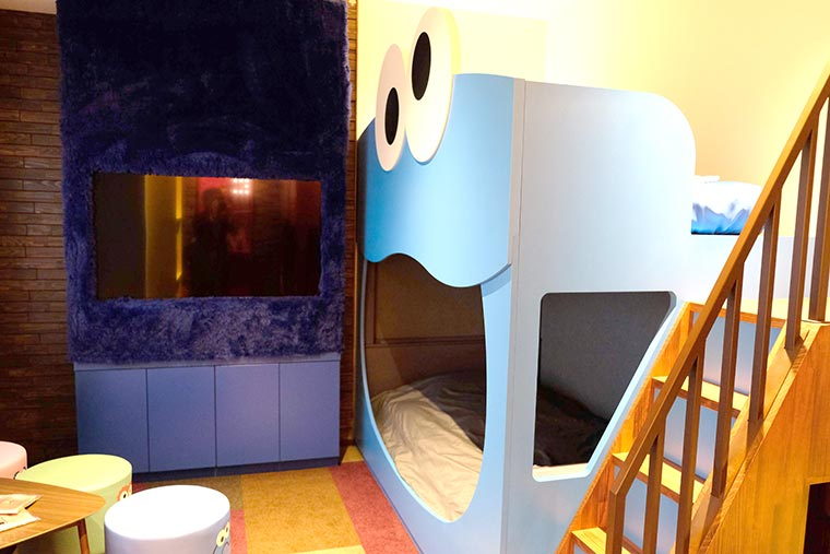 リーベルホテル アット ユニバーサル・スタジオ・ジャパン「セサミストリート™️・ビッグフェイス・ルーム」
