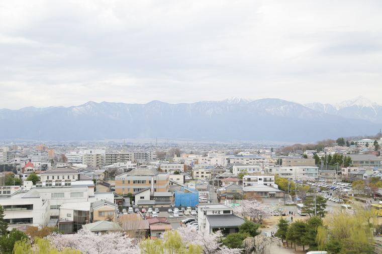 松本城天守閣からの眺め