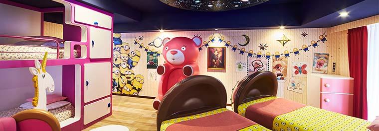 ホテルユニバーサルポート「ミニオンルーム 2 〜アグネスたちのお部屋〜」