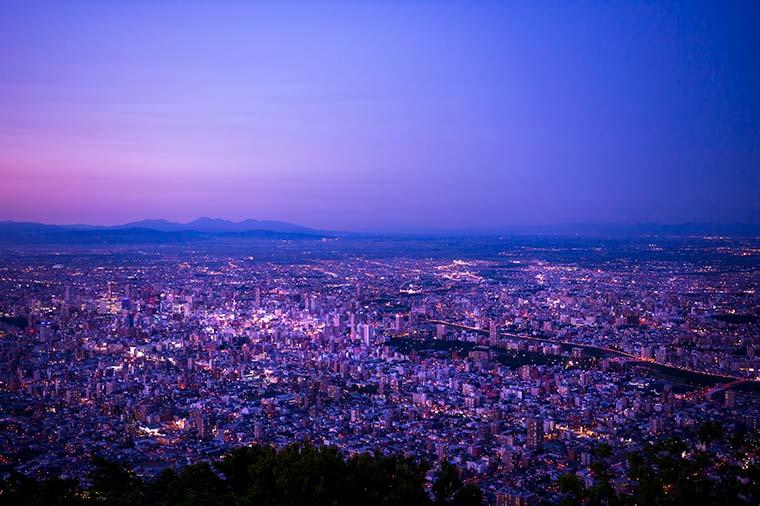 藻岩山 夕暮れ 夜景