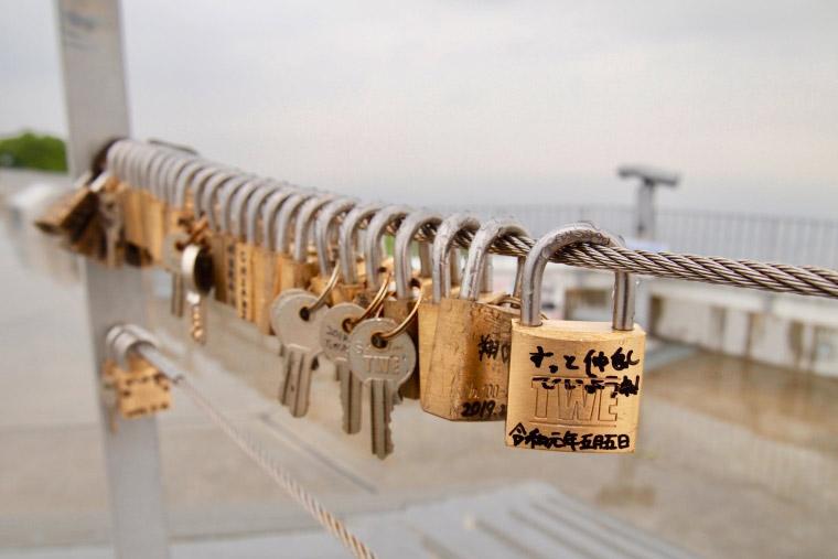 藻岩山 「愛の南京錠」「幸せの鐘」