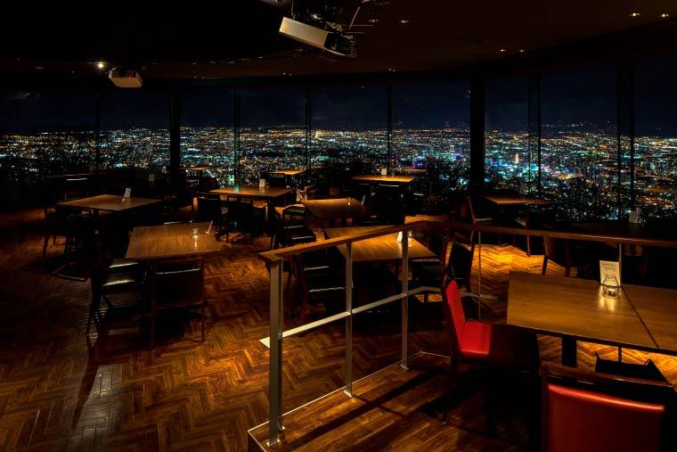 藻岩山 レストラン「THE JEWELS」 夜景