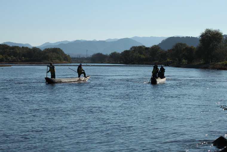 新潟県村上市 居繰網漁