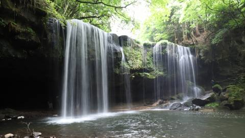 緑と水のカーテンの絶景に癒される鍋ヶ滝と阿蘇周辺スポットめぐり