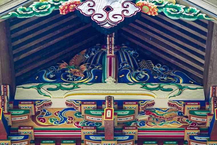 長瀞 宝登山神社 本殿「昇り龍」彫刻