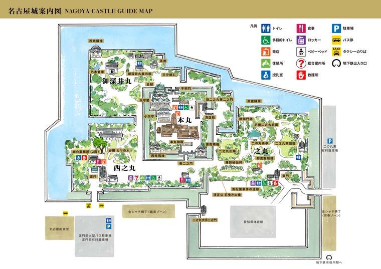 名古屋城MAP