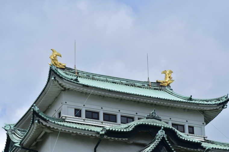 名古屋城 天守閣の金シャチ