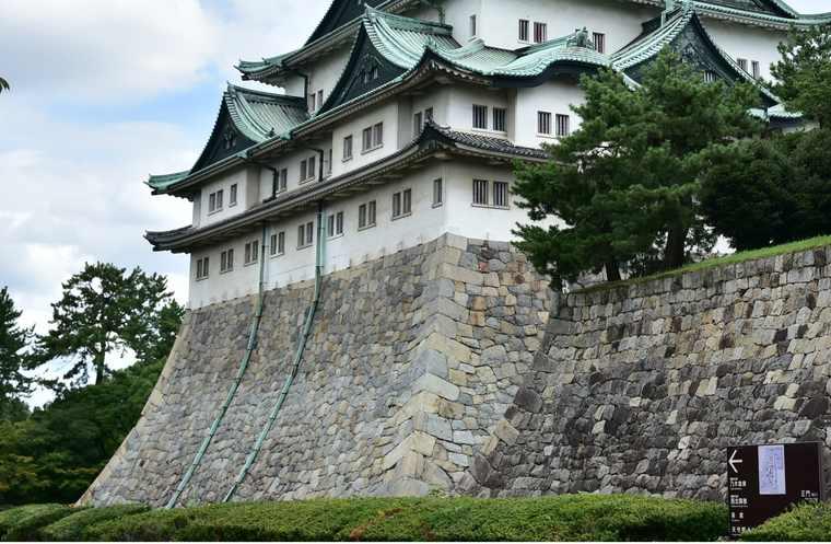 名古屋城 天守閣の石垣
