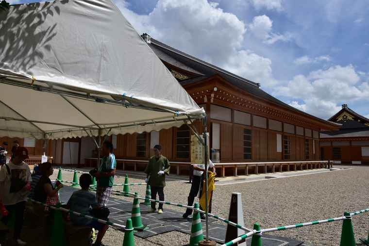名古屋城 本丸御殿の湯殿書院と黒木書院