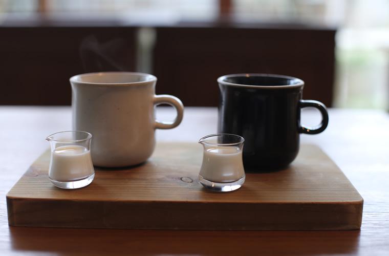 大涌谷から湧き出た天然水で淹れたコーヒー