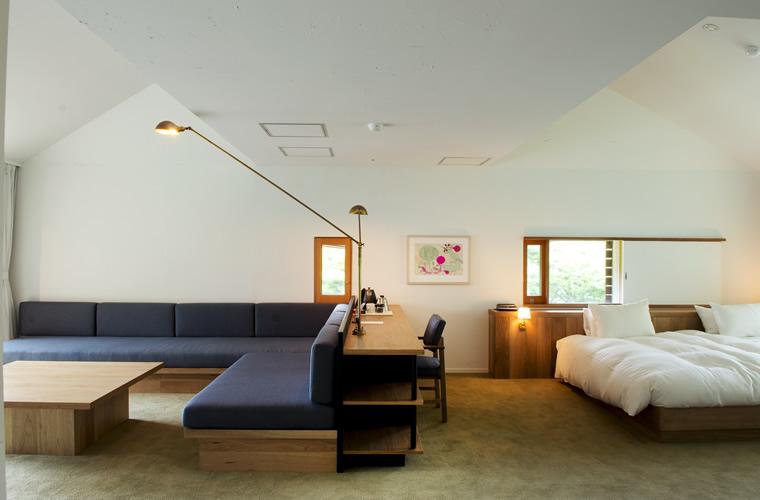 109平米の空間に2つのベッドルームを備えたスイート