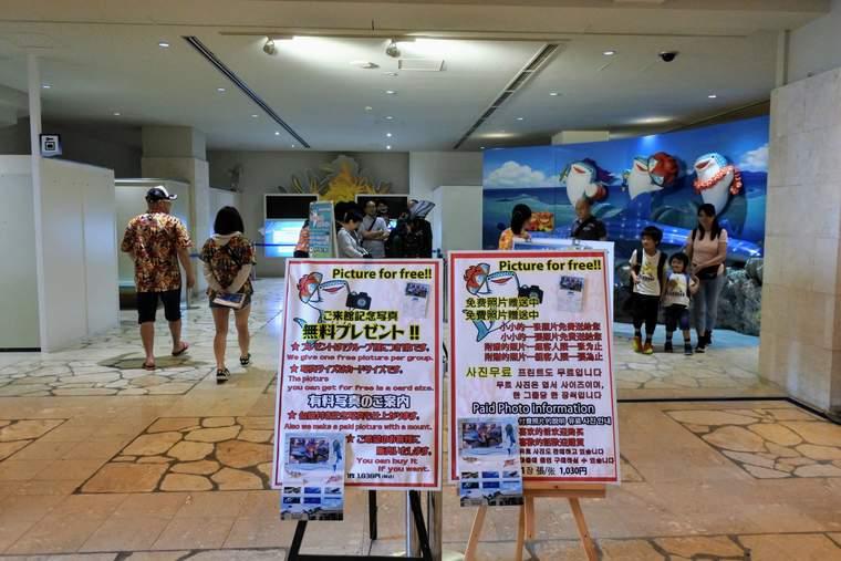 沖縄美ら海水族館 来館記念撮影