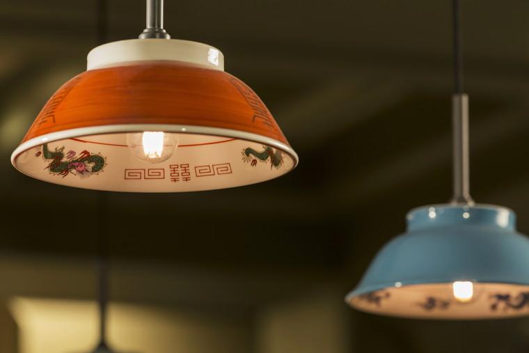 星野リゾート OMO7 旭川 旭川ラーメンのどんぶりを使ったランプシェード