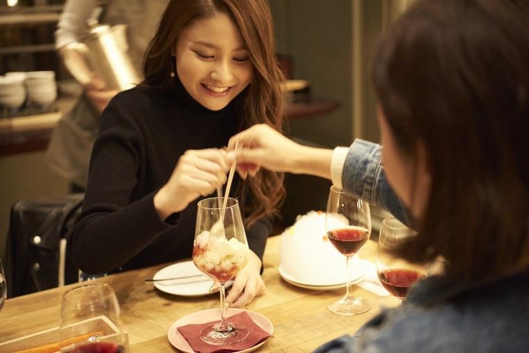 星野リゾート OMO7 旭川 混ぜるたびに味が変化するシメパフェ