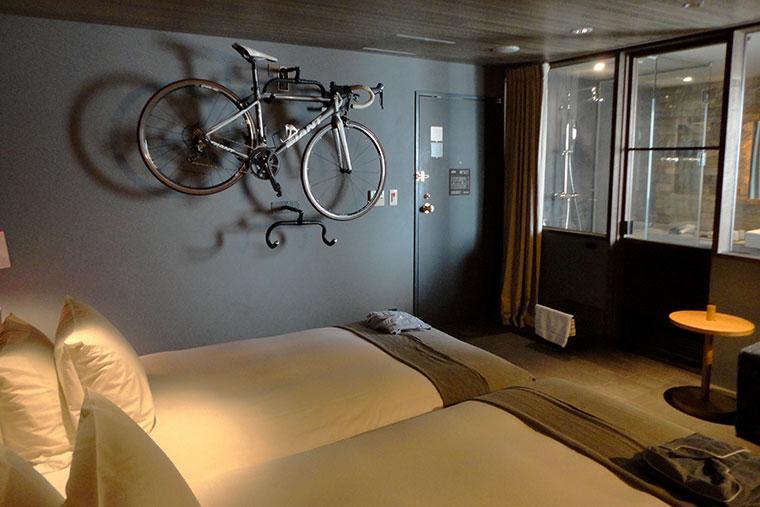 ホテルサイクルの客室