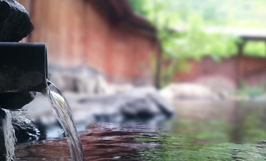 """""""あがり湯""""は新鮮な温泉で"""