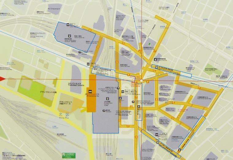 梅田7駅配置