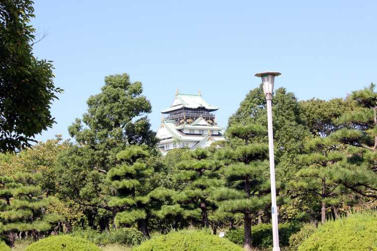 大阪城のある大阪城公園