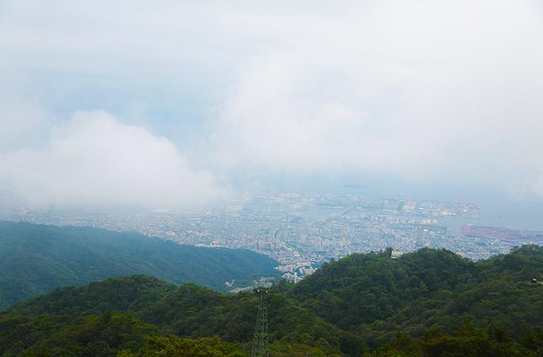 六甲山頂上付近からの眺望