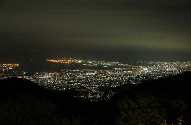 六甲山天覧台から見える夜景