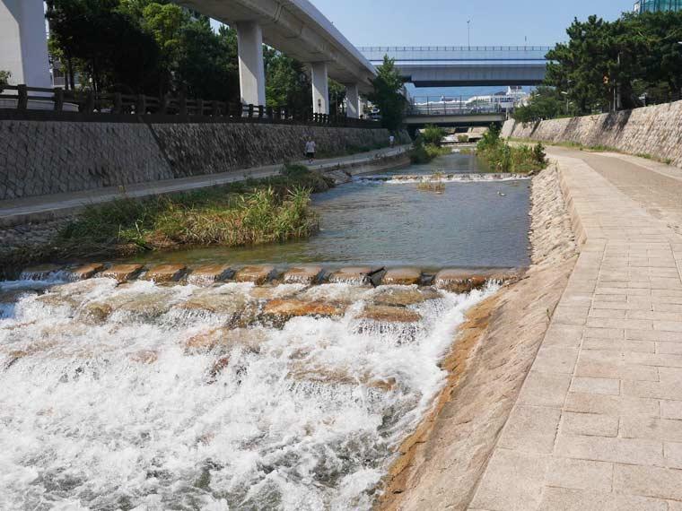 灘五郷の中心を流れる住吉川