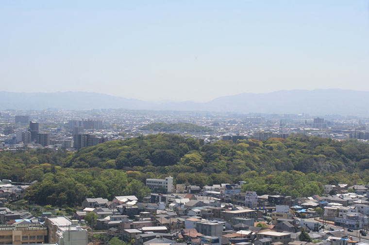 堺市役所の展望ロビー 景色
