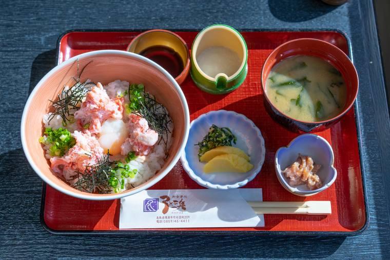 「お食事処 弓ヶ浜」のかにトロ丼