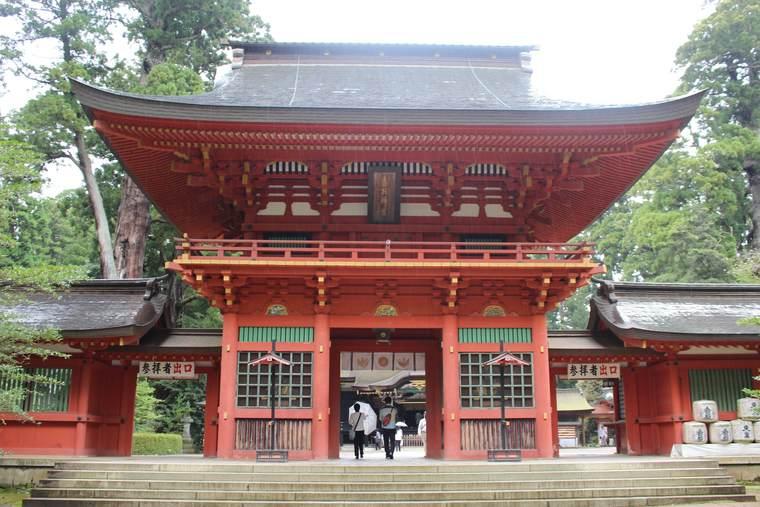 香取神宮 重要文化財に指定されている楼門