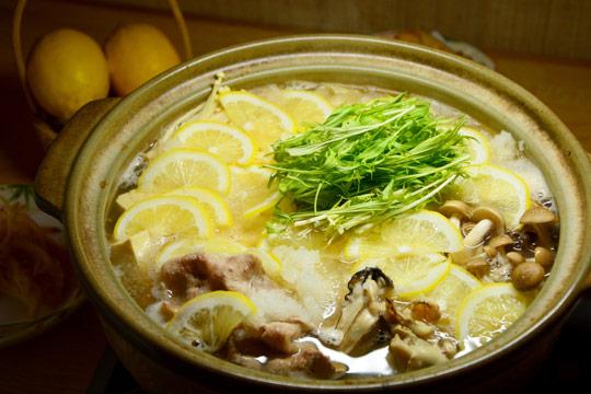 お食事処 わか葉の「レモン鍋」