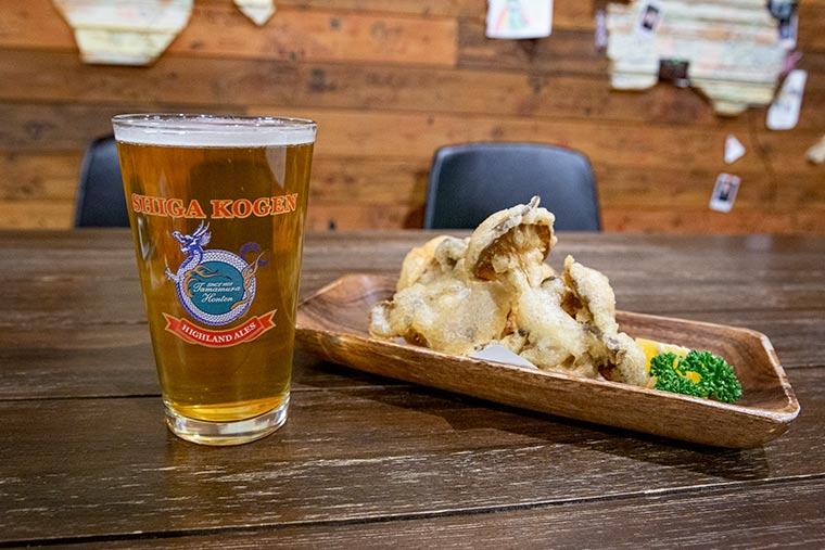 4種の信州きのこの志賀高原ビールフリット
